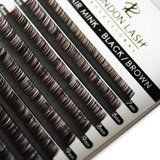 D curl eyelash extensions - Mega Volume Black Brown Mayfair Lashes 0.03 Mix trays