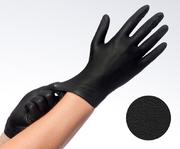 London Lash Pro training - BLACK SOFT NITRILE EASYGLIDE GLOVES S/M/L